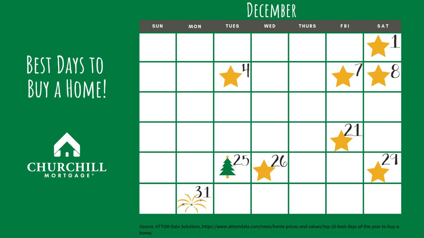 December Calendar for 10 Best Days- EMAIL