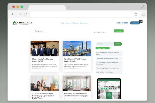browser window blog website