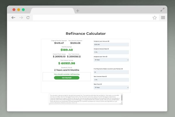 browser window calculator form